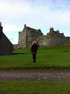 Alison McLean at ancestral home, Duarte Castle, Isle of Mull
